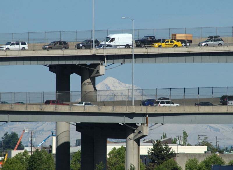 Freeway and mountain